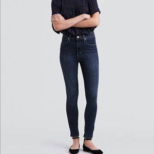 Levi's Hi Rise Skinny Dark Wash Jeans Stretch 6 28